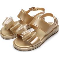 Sandália Pimpolho Menina Colore Dourada