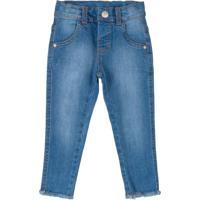 Calça Em Jeans Azul