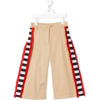 Stella Jean Kids Side Stripe Wide Leg Trousers - Neutro