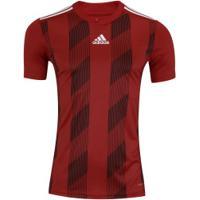 Camisa Adidas Striped 19 - Masculina - Vermelho/Branco
