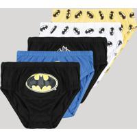 Kit De 5 Cuecas Infantis Batman Multicor