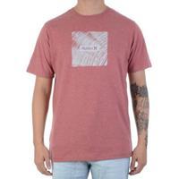 Camiseta Hurley Frame Masculina - Masculino-Vermelho