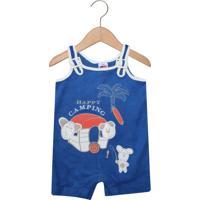Macacão Tip Top Curto Baby Menino Azul
