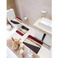 Jogo De Banheiro Diagonal 3 Peças - Jolitex