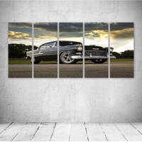 Quadro Decorativo - 1955 Chevrolet Bel Air Custom - Composto De 5 Quadros - Multicolorido - Dafiti