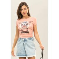 Blusa Estampada Bordado Rosa Wan - Lez A Lez