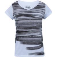 Camiseta Do Botafogo Line - Feminina - Branco