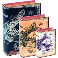 Kit Livro Caixa 3 Pcsmart Multicolorido