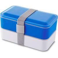Lancheira Com Elástico Healthy Topget Azul