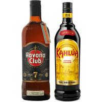 Kit Licor Creme De Café Kahlúa 750Ml + Rum Havana Club Rum 7 Anos 750Ml Kit271