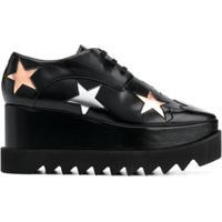 Stella Mccartney Sapato Plataforma Com Cadarço 'Elyse' - Preto