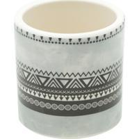 Vaso De Cerâmica Branco E Preto Aztec Tri Urban Home