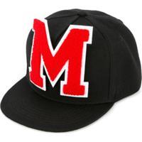 Msgm Kids Boné Com Logo - Preto