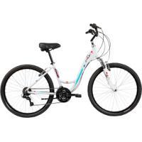 Bicicleta Caloi Ceci - Aro 26 - Freio V-Brake - Câmbio Shimano - 21 Marchas - Feminina - Branco