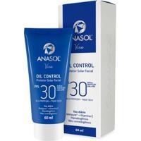 Protetor Solar Facial Anasol Viso Oil Control Fps30 60Ml - Unissex