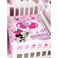 Cobertor Bebê Jolitex Raschel Disney Rosa