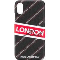 Karl Lagerfeld Capa 'London' Para Iphone X/Xs - Preto