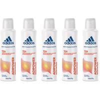 Kit 5 Desodorantes Adidas Adipower Aerossol Feminino 150Ml - Feminino-Incolor