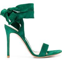 Gianvito Rossi Sandália Com Amarração - Verde