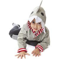 Capa De Chuva Fechada Dani Lessa Tubarão Cinza - Kanui