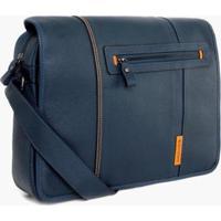 Bolsa Bennemann Carteiro Posh Paris Masculina - Masculino-Azul