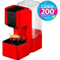 Máquina De Café Espresso E Multibebidas Automática Pop Vermelha Três Corações-1,3L De Capacidade, Pressões Entre 15 E 2 Bar, Cápsula Para Retrolavagem
