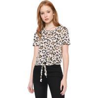 Blusa Calvin Klein Jeans Onça Bege