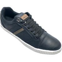 Sapatênis Ped Shoes Casual Detalhe Masculino - Masculino-Azul+Cinza