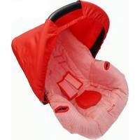 Capa Para Bebê Conforto 0 A 13 Kg Listra Alan Pierre Baby Vermelha