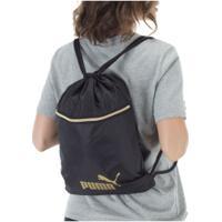 Gym Sack Puma Core Seasonal - Feminino - Preto/Ouro