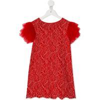 Charabia Vestido Com Tule - Vermelho