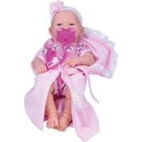 Boneca Love Born Newborn Bebezinho Da Mamãe Com Acessórios - Feminino-Rosa