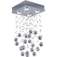 Plafon Em Inox Para 4 Lâmpadas Brilhante 25X37Cm Transparente