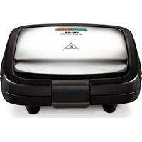 Sanduicheira Arno Croc Time 220V 700W Em Inox Com Placas Antiaderente