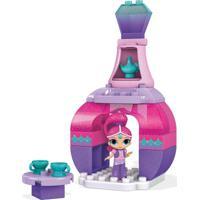 Blocos De Montar - Mega Bloks - Shimmer & Shine - Palácio Mágico - Festa Do Chá Da Shimmer - Fisher - Unissex-Incolor