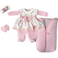 Saída De Maternidade Letícia Enxovais Menina Luxo Com Porta Bebê Rosa