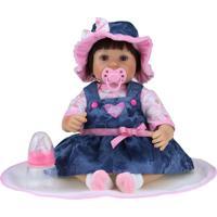 Boneca Bebê Kikita Doll Reborn Fenix Brinquedos Dlp-01 K Com Acessórios