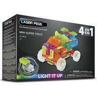 Blocos De Montar Laser Pegs Mini Caminhões 4 Em 1 Verde