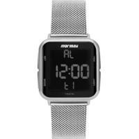 Relógio Digital Mormaii Digi Prata Mo6600Ak/7K Feminino - Feminino-Prata
