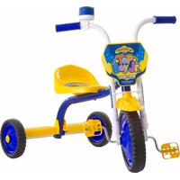 Triciclo Infantil Ultra Top Boy Jr Azul E Amarelo