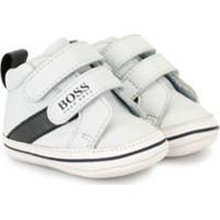Boss Kids Tênis Cano Baixo Com Velcro - Branco