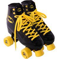 Patins Roller Bel Sports Batman 4 Rodas Preto E Amarelo