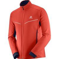Jaqueta Salomon Agile Softshell Jacket Feminina - Feminino-Vermelho