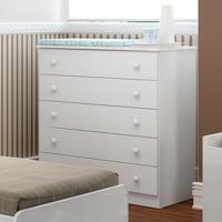 Comoda De Bebê 5 Gavetas Coringa Plus 2653.156 Branco - Multimóveis