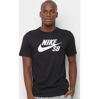 Camiseta Nike Sb Dri-Fit Masculina - Masculino-Preto+Branco