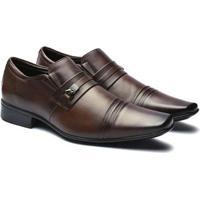 Sapato Social Jota Pe Pelica Detalhe Frisos Masculino - Masculino-Marrom