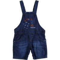 Macacão Jeans Infantil Para Menino - Azul