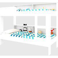 Beliche C/ Estante Miami Branco Art In Móveis