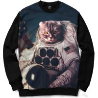 Blusa Bsc Cat Space Full Print - Masculino