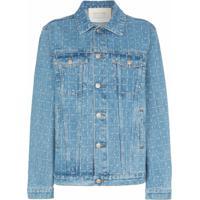 1017 Alyx 9Sm Jaqueta Jeans Com Logo - Azul